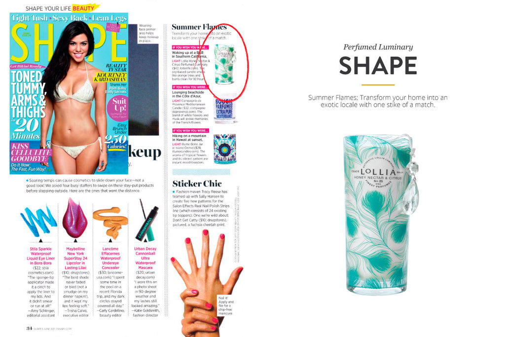 Shape Magazine featuring perfumed luminary