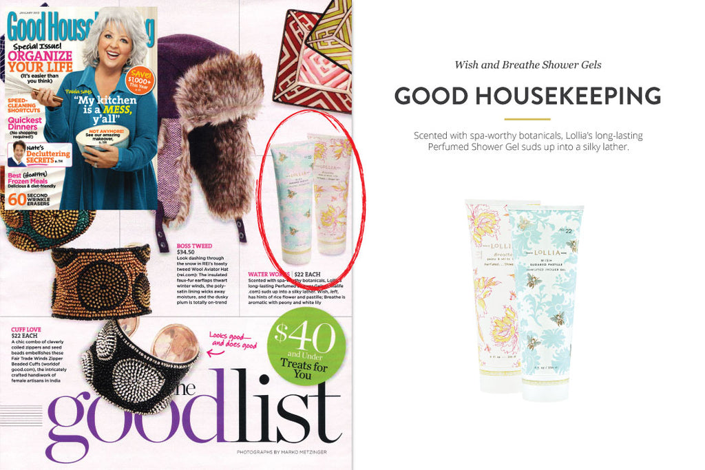 Good Housekeeping Magazine featuring Wish and Breathe Shower Gels