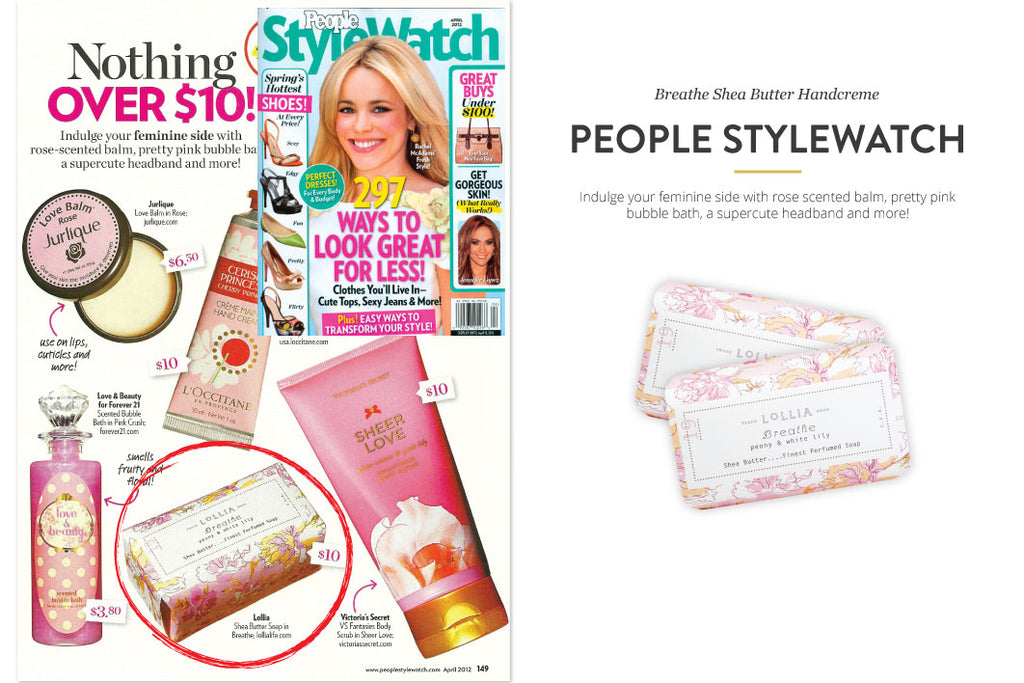 People Stylewatch Magazine featuring Breathe Shea Butter Handcreme