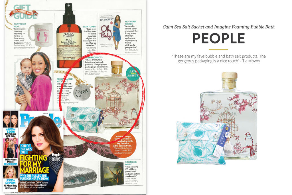 People Magazine featuring Calm Sea Salt Sachet
