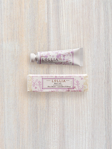 Relax Petite Treat Shea Butter Hand Cream | Lollia