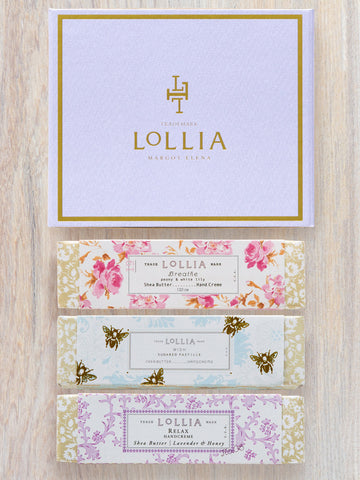 Travel-Size Perfumed Shea Butter Hand Cream Gift Set | Lollia