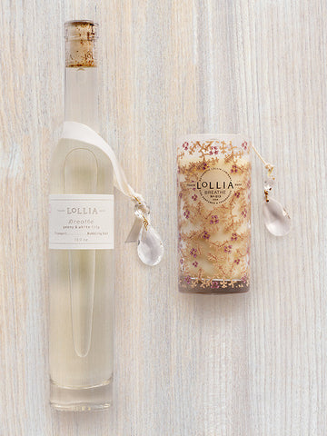 Breathe Duo | Perfumed Bubble Bath & Petite Luminary Candle | Lollia