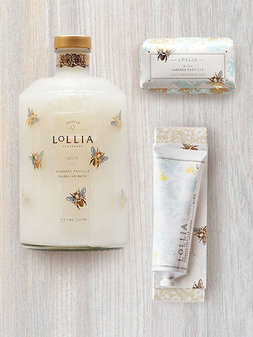 Wish Trio | Bubble Bath, Shea Butter Hand Cream & Soap Gift | Lollia
