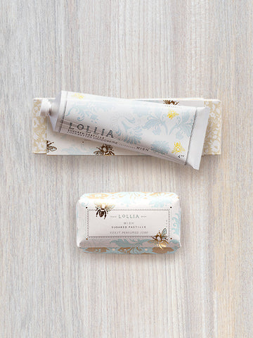 Wish Duo | Perfumed Shea Butter Bar Soap & Hand Cream | Lollia