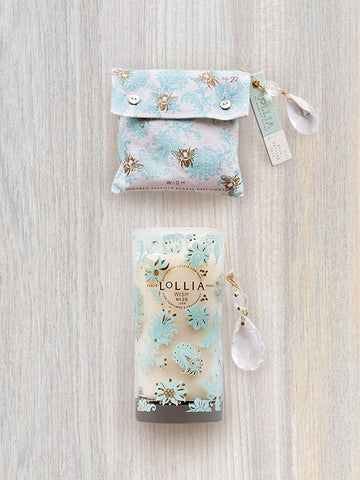 Wish Bath Salt Sachet & Scented Luminary Candle | Lollia