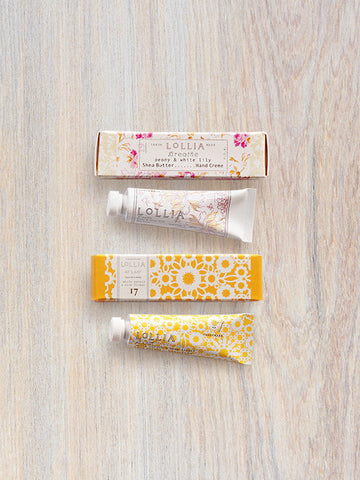 At Last & Breathe Perfumed Petite Hand Cream Gift Pairing | Lollia