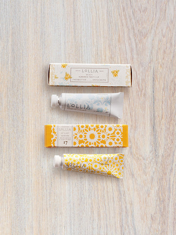 At Last & Wish Perfumed Petite Shea Butter Hand Cream Pairing | Lollia