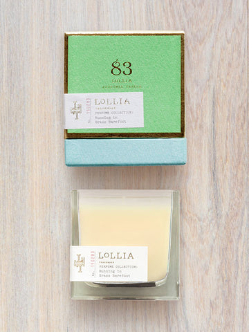 Running In Grass Barefoot Scented Poetic License Candle | Lollia