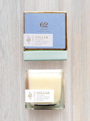 Silently Across The Snow Scented Poetic License Candle | Lollia
