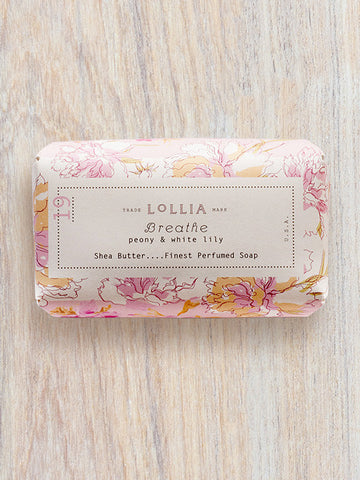 Breathe Perfumed Shea Butter Bar Soap | Lollia