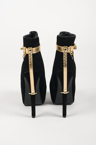 Golden High Heel Cuffs