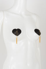 Onyx Heart Single Pasties - Fräulein Kink  - 3