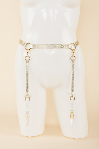 Gold Lace Garter Belt