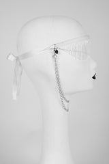 White Wedding Blindfold - Fräulein Kink  - 4