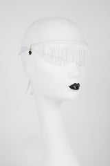 White Wedding Fringe Blindfold - Handcrafted in Berlin by Fräulein Kink