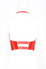 Roja Spiked Molded bustier in red patent leather by Fraulein Kink