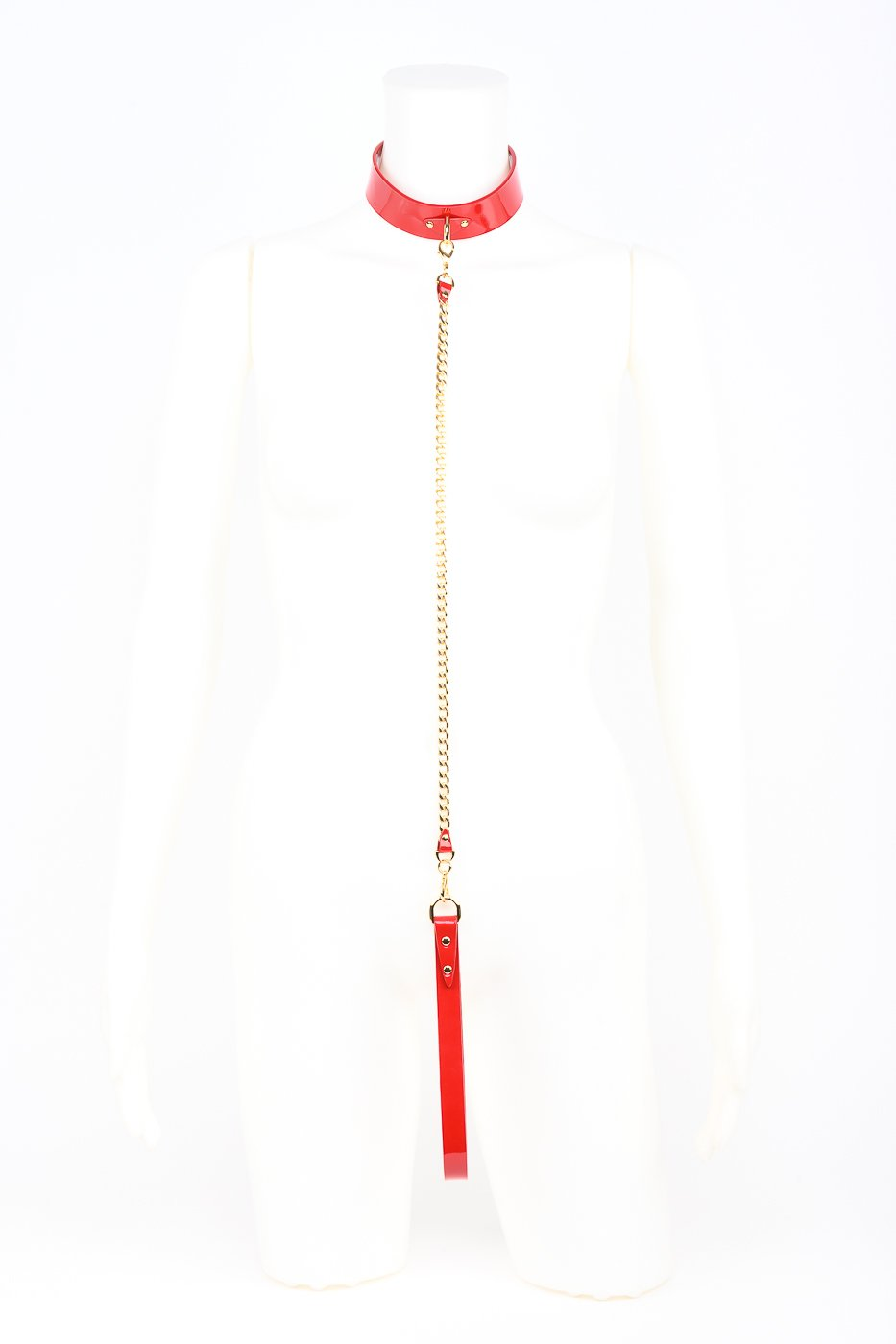 Roja Chain Lead in Red Patent Leather By Fraulein Kink