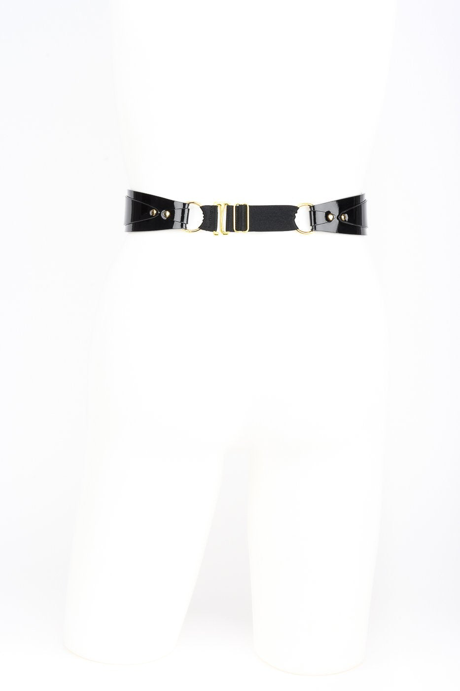 Sex Belt in Black Patent Leather by Fraulein Kink