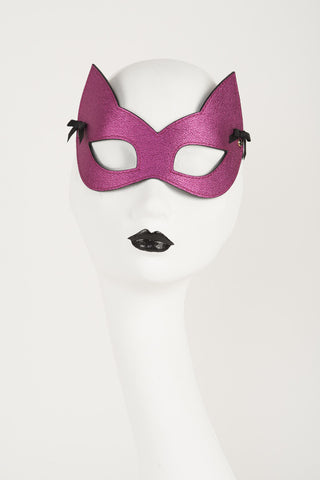 Metallic Pink Kitten Mask