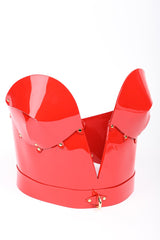 Roja Molded Corset in red patent leather by Fraulein Kink
