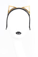 Kitten Ear Rica Headband in Black and Gold by Fraulein Kink