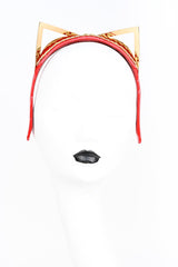 Roja Kitten Ear Headband in Red Patent Leather by Fraulein Kink
