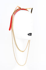 Fraulein Kink Red Gold Kitten Headband