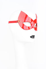 Roja Molded Kitten Mask in red patent leather with gold spikes by Fraulein Kink