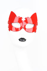 Roja Lion Mask in Red Patent Leather by Fraulein Kink