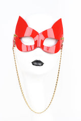 Roja Molded Kitten Sunglasses in Patent Red Leather by Fraulein Kink