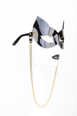 Fraulein Kink Rica Kitten Sunglasses with Chain