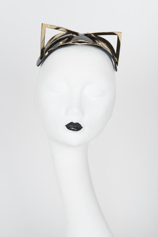 Ritsy Gold Kitten Fascinator - Fräulein Kink Private Access  - 5