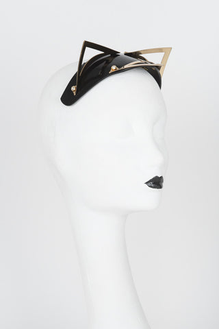 Ritsy Gold Kitten Fascinator - Fräulein Kink Private Access  - 1