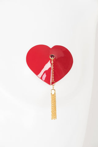 Red Hot Chain Heart Pasties