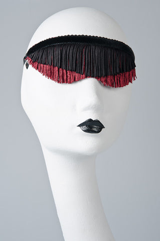 Custom Black & Maroon Blindfold
