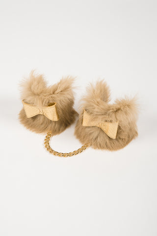 Golden Fur Handcuffs