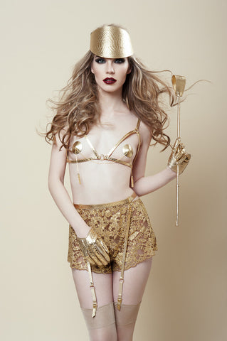 Golden Garter Belt