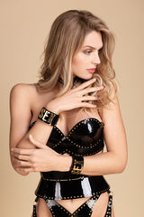 Fraulein Kink Black Patent Leather Bra Buy Online