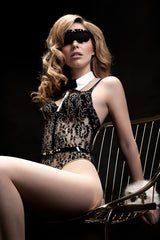 Black BLVD 5th Avenue Bodysuit - Fräulein Kink  - 1