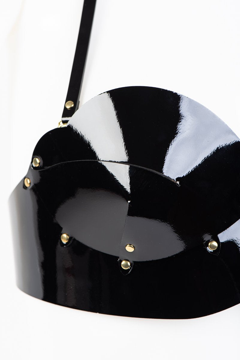 Buy Fraulein Kink Black Patent Leather Bra Online