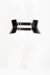 Fraulein Kink Black Patent Leather Belt Buy Online