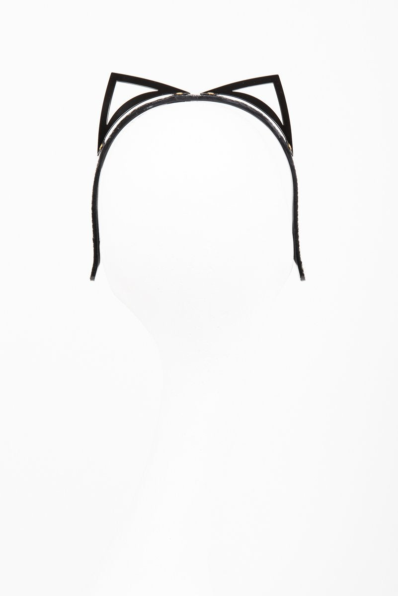 Buy Fraulein Kink Black Crocco Kitten Headband Online