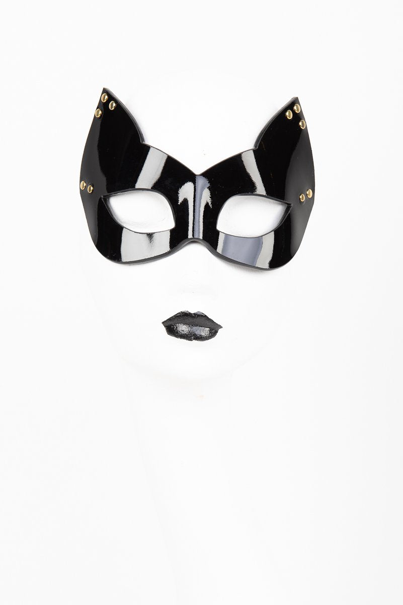 Buy Fraulein Kink Online. Patent Leather Kitten Mask.