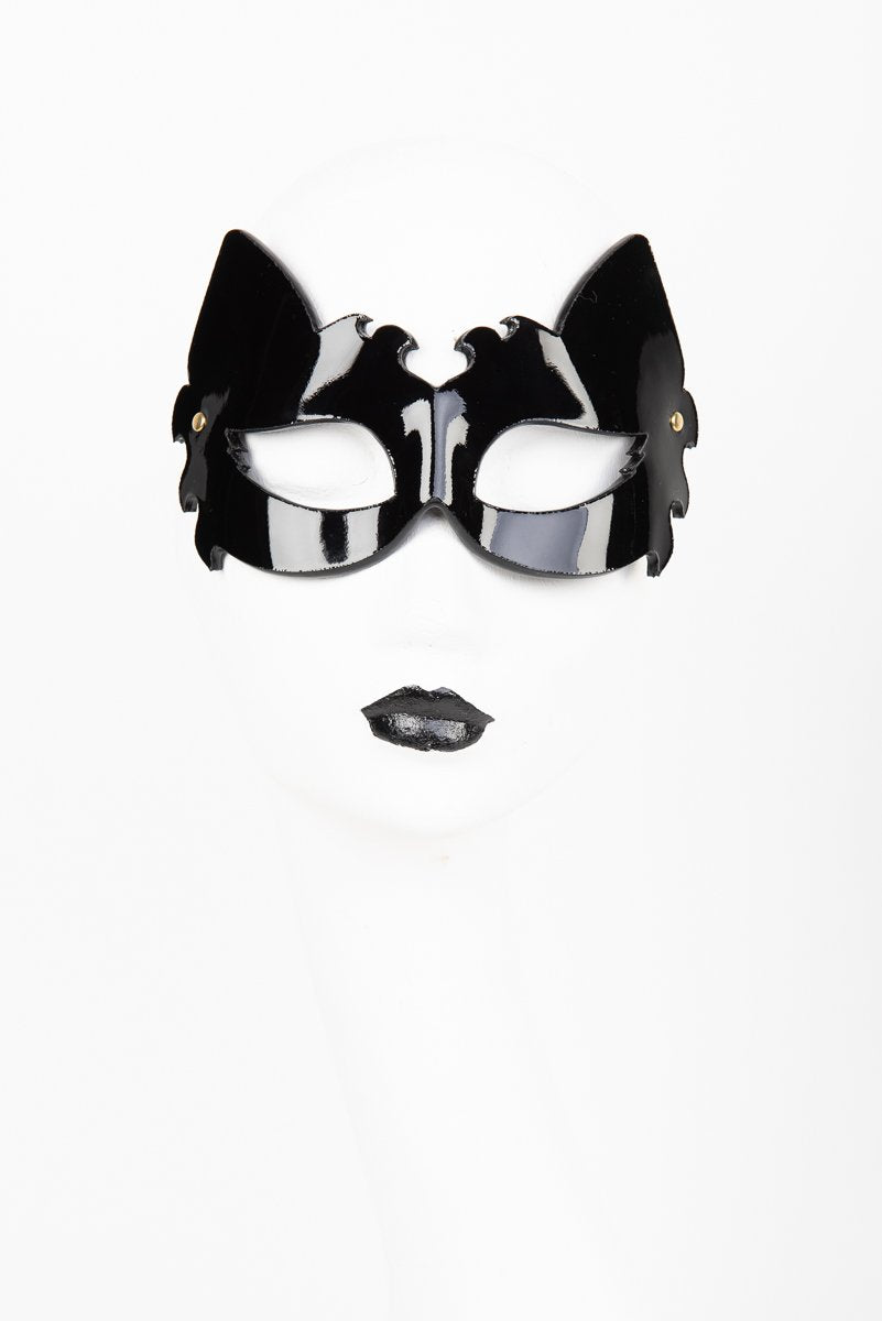 Fraulein Kink Black Patent Leather Lion Mask Buy Online