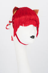 Rouge Kitten Fringe Mask