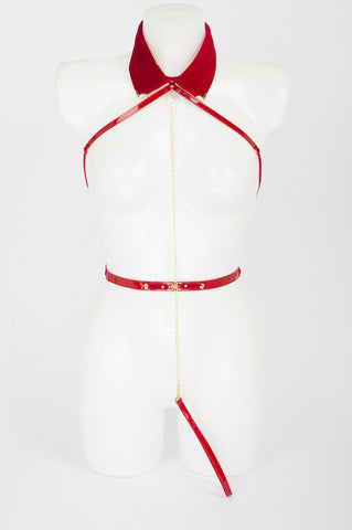 Rouge Collar Harness - Fräulein Kink  - 1
