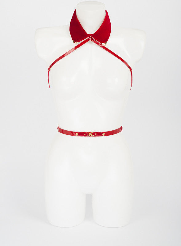 Rouge Collar Harness - Fräulein Kink  - 3