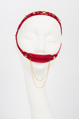 Double Red & Gold Tulle Mouth Gag