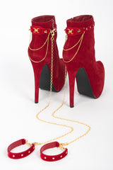 Red & Gold Crystal Ankle Restraints